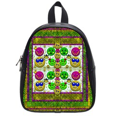 Smile And The Whole World Smiles With You School Bags (small)