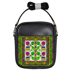 Smile And The Whole World Smiles With You Girls Sling Bags