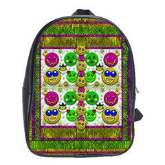 Smile And The Whole World Smiles With You School Bags (xl)
