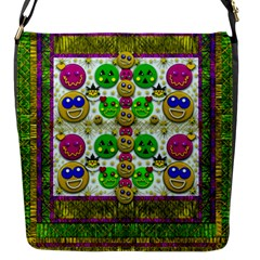 Smile And The Whole World Smiles With You Flap Messenger Bag (s)