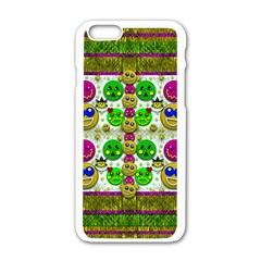 Smile And The Whole World Smiles With You Apple Iphone 6/6s White Enamel Case