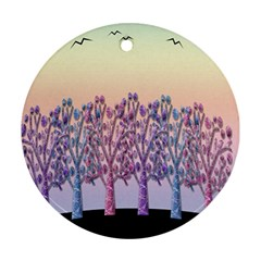 Magical hill Ornament (Round)
