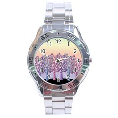 Magical Hill Stainless Steel Analogue Watch