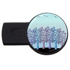 Blue magical hill USB Flash Drive Round (2 GB)