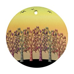 Magical sunset Ornament (Round)