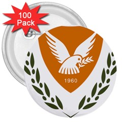 Coat Of Arms Of Cyprus 3  Buttons (100 Pack)
