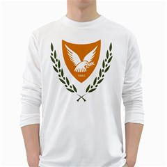 Coat Of Arms Of Cyprus White Long Sleeve T Shirts