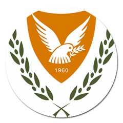 Coat Of Arms Of Cyprus Magnet 5  (round)