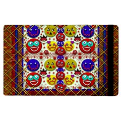 Smile And The Whole World Smiles  On Apple Ipad 2 Flip Case