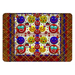 Smile And The Whole World Smiles  On Samsung Galaxy Tab 8 9  P7300 Flip Case