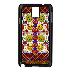 Smile And The Whole World Smiles  On Samsung Galaxy Note 3 N9005 Case (black)