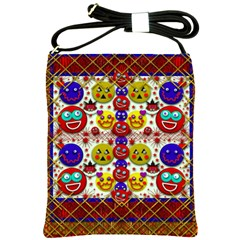 Smile And The Whole World Smiles  On Shoulder Sling Bags