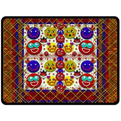Smile And The Whole World Smiles  On Fleece Blanket (large)