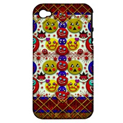 Smile And The Whole World Smiles  On Apple Iphone 4/4s Hardshell Case (pc+silicone)