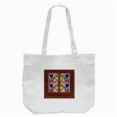 Smile And The Whole World Smiles  On Tote Bag (white)