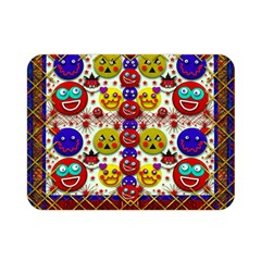 Smile And The Whole World Smiles  On Double Sided Flano Blanket (mini)
