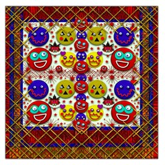 Smile And The Whole World Smiles  On Large Satin Scarf (square)