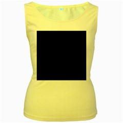 Simple black Women s Yellow Tank Top