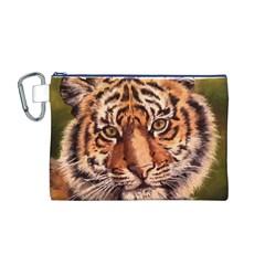 Tiger Cub Canvas Cosmetic Bag (M)