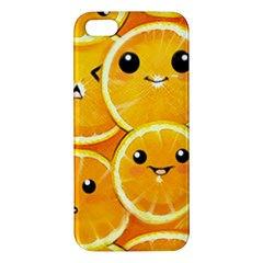 Cute orange  Apple iPhone 5 Premium Hardshell Case