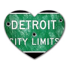 Detroit City Limits Heart Mousepads