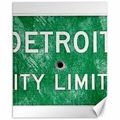 Detroit City Limits Canvas 16  X 20