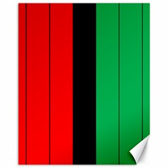 Kwanzaa Colors African American Red Black Green  Canvas 11  X 14