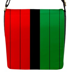 Kwanzaa Colors African American Red Black Green  Flap Messenger Bag (s)