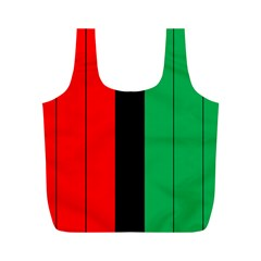 Kwanzaa Colors African American Red Black Green  Full Print Recycle Bags (m)