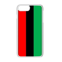 Kwanzaa Colors African American Red Black Green  Apple Iphone 7 Plus White Seamless Case