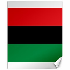 Pan African Unia Flag Colors Red Black Green Horizontal Stripes Canvas 16  X 20
