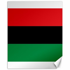 Pan African Unia Flag Colors Red Black Green Horizontal Stripes Canvas 11  X 14