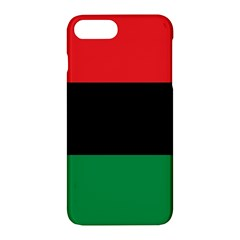 Pan African Unia Flag Colors Red Black Green Horizontal Stripes Apple Iphone 7 Plus Hardshell Case