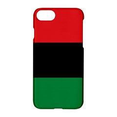 Pan African Unia Flag Colors Red Black Green Horizontal Stripes Apple Iphone 7 Hardshell Case