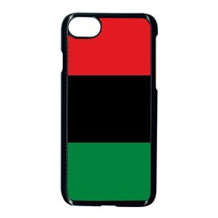 Pan African Unia Flag Colors Red Black Green Horizontal Stripes Apple Iphone 7 Seamless Case (black)