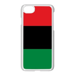Pan African Unia Flag Colors Red Black Green Horizontal Stripes Apple Iphone 7 Seamless Case (white)