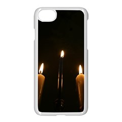 Hanukkah Chanukah Menorah Candles Candlelight Jewish Festival Of Lights Apple Iphone 7 Seamless Case (white)
