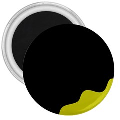 Black and yellow 3  Magnets