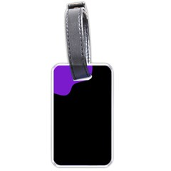 Purple and black Luggage Tags (One Side)