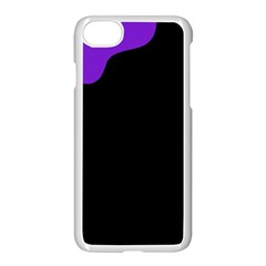 Purple And Black Apple Iphone 7 Seamless Case (white)