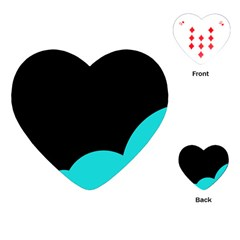 Black and cyan Playing Cards (Heart)