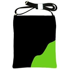Black And Green Shoulder Sling Bags