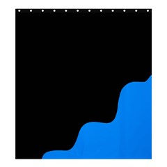 Blue and black Shower Curtain 66  x 72  (Large)