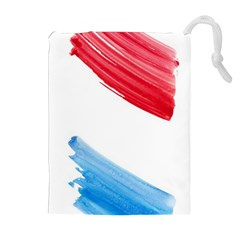 Tricolor Banner Flag, Red White Blue Drawstring Pouches (extra Large)