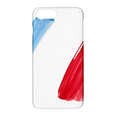 Tricolor Banner Flag France, Blue White Red Watercolor Apple Iphone 7 Plus Hardshell Case