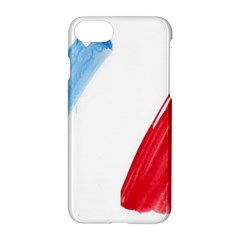 Tricolor Banner Flag France, Blue White Red Watercolor Apple Iphone 7 Hardshell Case