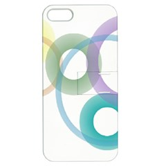 Rainbow Colors Circles Apple Iphone 5 Hardshell Case With Stand