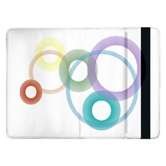 Rainbow Colors Circles Samsung Galaxy Tab Pro 12 2  Flip Case