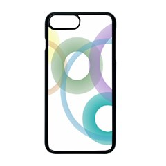 Rainbow Colors Circles Apple Iphone 7 Plus Seamless Case (black)