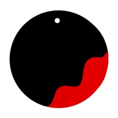 Black and red Ornament (Round)